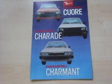 52584) Daihatsu Charade Cuore Charmant Prospekt 198?