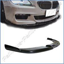HM Type Carbon Fiber Front Bumper Add Lip 12-17 BMW F13 F12 640i 650i M-Tech 2DR