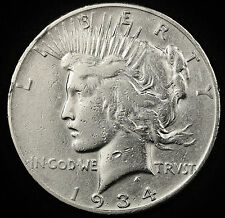 1934-s Peace Silver Dollar.  Circulated.  95536  (Inv. B)