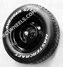 "15"" 6"" 7"" 8"" 9"" BULLET CAP BLACK steel WHEELS RIMS HOT ROD HOLDEN HQ HZ HX HZ"