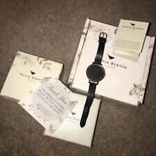 Olivia Burton Rose Gold And Black Big Dial Watch Hardly Worn From Topshop