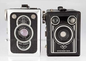 2 Boxkameras: Zeiss Ikon Box-Tengor, Agfa Synchro Box #AT