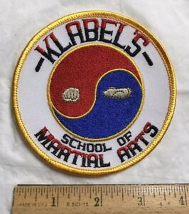 Klabel's School of Martial Arts Ying Yang Round Embroidered Patch