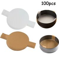 100x Cake Paper Liners Parchment Pads Nonstick Sheets Pan Liner for Round Pans