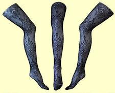 Netzstrumpfhose Nylonstrumpfhose mit Muster Gr. XS, S, M, L, XL # 68