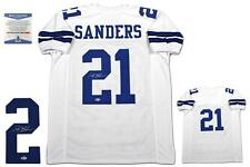 Deion Sanders Autographed SIGNED Jersey - Beckett Authentic - White
