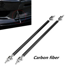 2pcs Adjustable Carbon fiber Front Bumper Lip Splitter Strut Rod Tie Support Bar