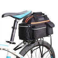 Bicycle Seat Rear Bike Rack Bag Cycle Pannier Waterproof Rack Pack 14L Black