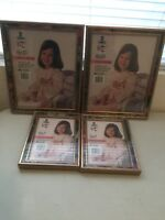 Vintage Colorful Picture Frames two 5x7 two 8X10 new in package USA Wood Gold
