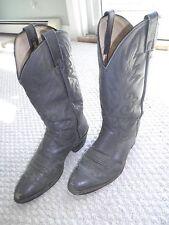 vintage DAN POST Silver / Grey Cowboy BOOTS, 1990?s, 9 EW, 9216149 16899, 2416