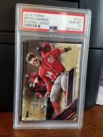 2016 Topps Bryce Harper Gold Baseball Card #100 PSA 10 Gem Mint POP 4