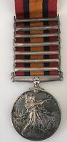 1898 Victorian War UK Queen South Africa Medal Named to M.Martin JB, RHA, 7 Bars