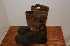 Original AUTHENTIC Pair WW2 WWII US Army GI Combat Boots Infantry Double Buckle