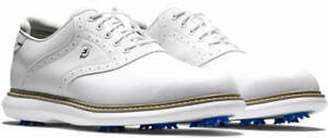 FootJoy 2021 Traditions Golf Shoes 57903 White 14 Medium (D) - New in Box