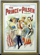Vintage Large Original Color Lithograph Theatrical Poster THE PRINCE OF PILSEN