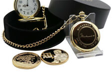 MUHAMMAD ALI Signed 24k Gold Pocket Watch and Boxing Gold Coin Luxury Gift Case