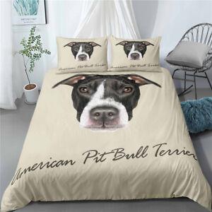 Duvet Quilt Cover Set  Single Double Kiing Super King  American Pit Bull Terrier