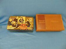 Cookie tin La Crepiere & wooden candy box Baltimore Stewart & Co. Chocolate art