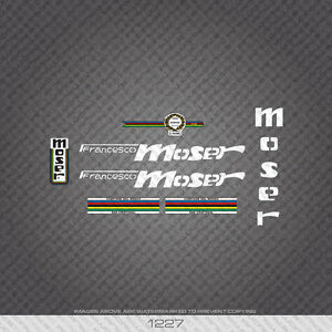 01227 Moser Bicycle Stickers - Decals - Transfers - White
