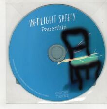 (GO851) In-Flight Safety, Paperthin - 2011 DJ CD
