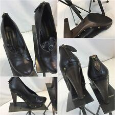 Steve Madden Luxe Heels Shoes Sz 7 Brown Back Zip L-Yokel NWOT YGI D8