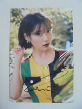IU Lee Ji Eun KPOP Korean Actress 4x6 Photo Autograph hand signed USA Seller Z5