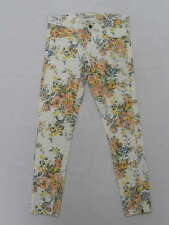 Billabong Women Pants Sz 27 Flower Jean White