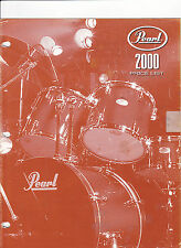 #MISC-0434 - 2000 PEARL DRUMS musical instrument catalog price list