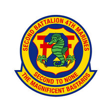 2nd Battalion, 4th Marines Regiment 3.5 inch USMC Marine Corp decal NEW