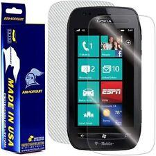 ArmorSuit MilitaryShield Nokia Lumia 710 Screen + White Carbon Fiber Skin! New!