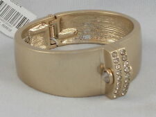 Kenneth Cole New York Modern Rose Worn Goldtone Pave' Hinged Bangle Bracelet $68