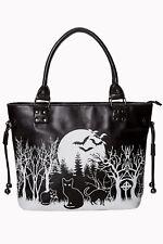 Banned Apparel Woodland Bag Spooky Bats Moon Gothic Punk Handbag Purse BG7185