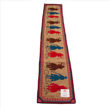 Cowboys on Horseback 3 Ropers Jacquard Table Runner 13x72 Inches