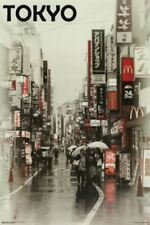 Tokyo City Street 24x36 Poster - Japan Travel Wall Art Print Home Decor Picture
