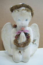 Rare Wells Arts Kneeling Baby Angel With Wreath Praying Like Kristin Pattern