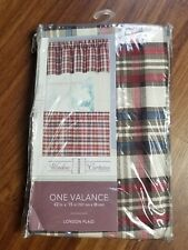 Window Curtains NEW Valance 42x15 London Plaid  Curtain Poly NEW CHF Industries