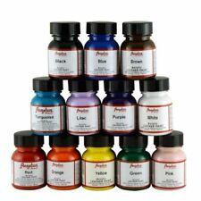 NEW & AUTHENTIC Angelus Acrylic Leather Paint 12 Colors Starter Set 1oz Each