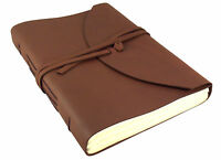 LARGE Leather Journal Notebook Sketchbook Scrapbook Diary Rustic Vintage Retro