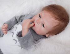 """22"""" Reborn Baby Recién Muñeca Realista Silicona Bebé Niño Lifelike Juguete 10 H"""