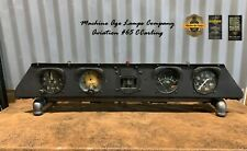 Machine Age Aviation Instrument Control Panel Vintage Lighted Aircraft Display