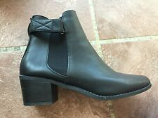Women's Black Ankle Boots by F&F Size 7 - excellent condition
