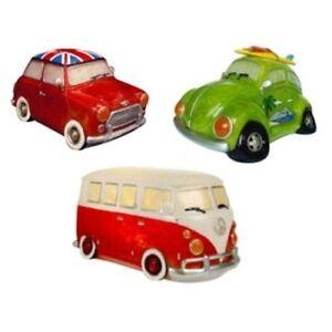 Novelty LED Night Light Desk Lamp - Red VW Camper Van, Mini Cooper, Beetle Car