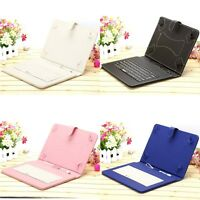 "iRULU Universal 10"" Micro USB Keyboard Folio Case Stand Cover PU for Tablet PC"