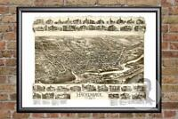 Vintage Hackensack, NJ Map 1896 - Historic New Jersey Art - Victorian Industrial