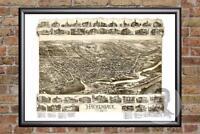 Vintage Hackensack, NJ Map 1896 - Historic New Jersey Art - Victorian Industrial