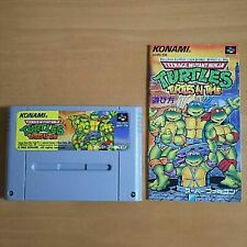 Used SFC TMNT Turtles in Time Super Famicom with manual Operation confirmed