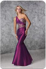 Xcite Prom Dress 32367 Purple/Nude Size 8 NWT