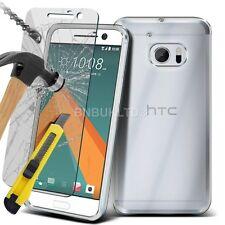 Claro caso de Gel Ultra delgada y vidrio protector de pantalla para HTC 10