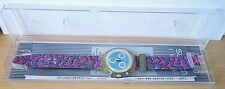 Orologio Polso Clock Swatch Chrono 30m Swiss Water Resistant Impermeabile Quarzo