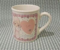 Precious Moments Lori Coffee Mug Tea Cup Fine Ceramic Enesco Vintage 1990